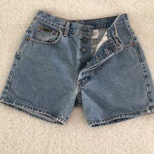 Vintage Calvin Klein High Wasted Jean Shorts